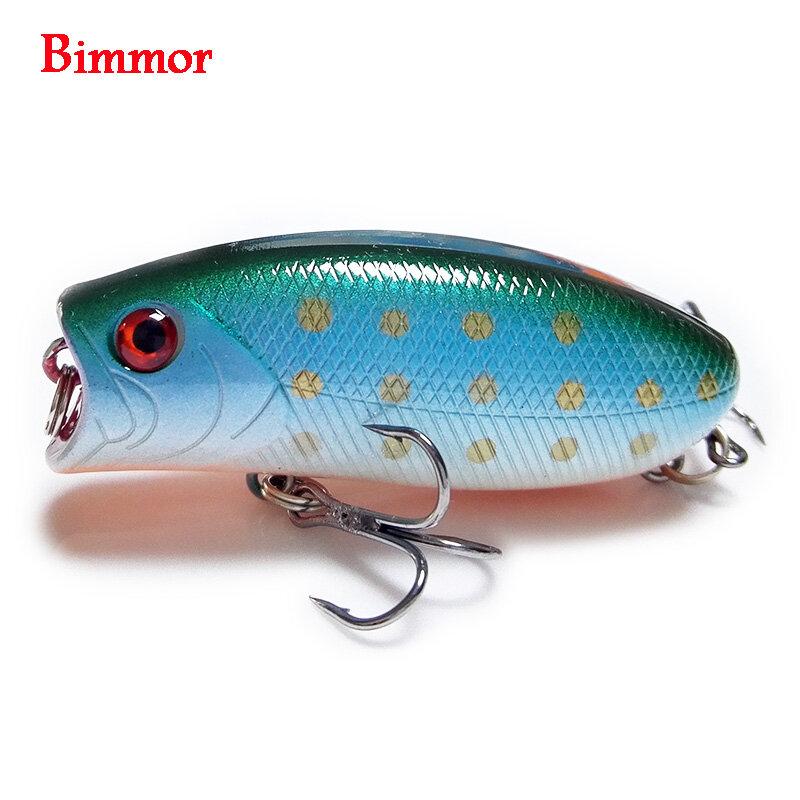 1PCS 3D ตาเหมือนจริงเหยื่อตกปลา 5.5 ซม.11g 8 # Hooks Pesca ปลา Popper Lures Wobbler Isca ประดิษฐ์ Hard เหยื่อ Swimbait