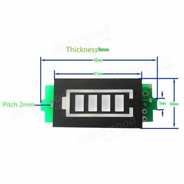 3.7V 7.4V 11.1V 14.8V Li-Po แบตเตอรี่ตัวบ่งชี้จอแสดงผล Power Storage สำหรับ RC แบตเตอรี่อะไหล่
