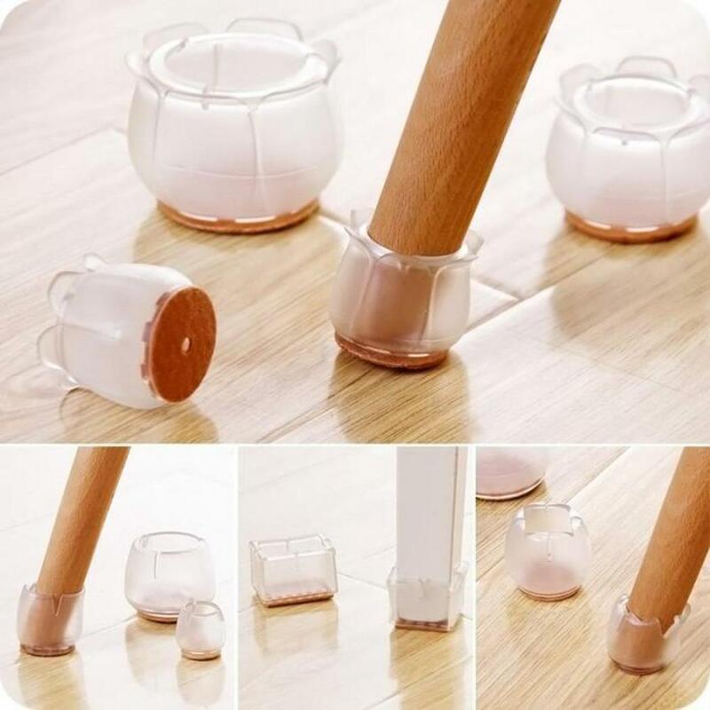 16pcs 실리콘 의자 다리 모자 피트 패드 가구 테이블 커버 양말 바닥 프로텍터 라운드 바닥 미끄럼 방지 컵 의자