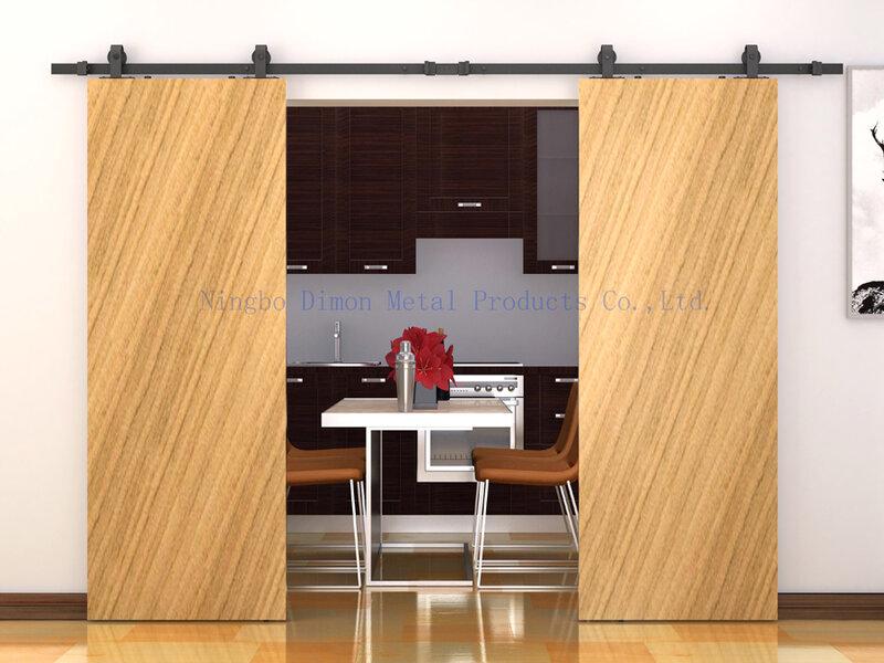 Dimon su misura hardware porta scorrevole in legno porta della stalla hardware ruota appesa In America stile porta scorrevole hardware DM-SDU 7208