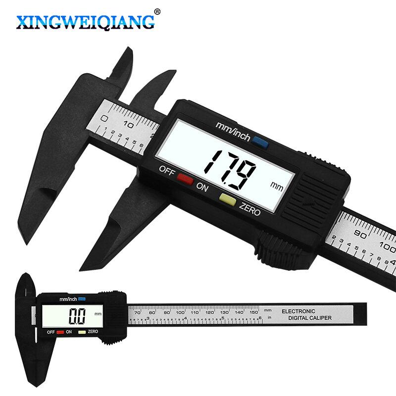 คาร์บอนไฟเบอร์คอมโพสิต6นิ้ว0-150มม.Vernier Digital Electronic Caliper Ruler