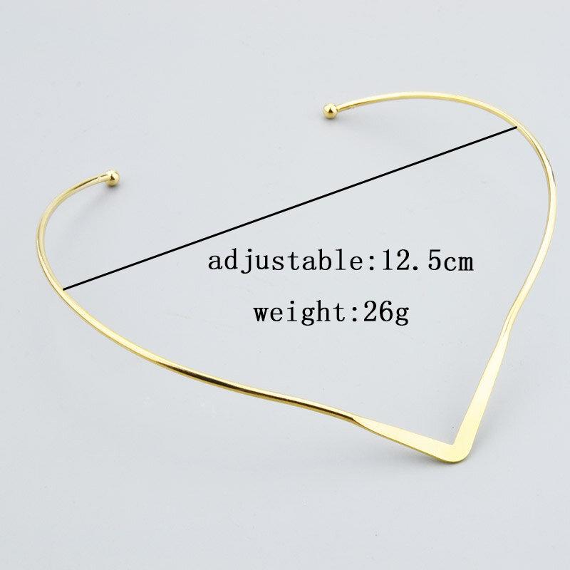 جديد الأزياء والمجوهرات بسيطة v تصميم عزم الدوران المختنق قلادة للنساء فتاة N1819
