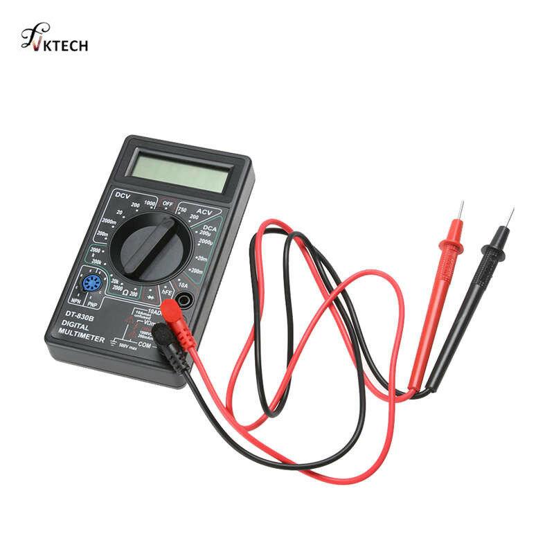DT-830B LCD الرقمية المتعدد AC DC 750/1000 فولت الفولتميتر Ammeter أوم فاحص أدوات حماية الزائد