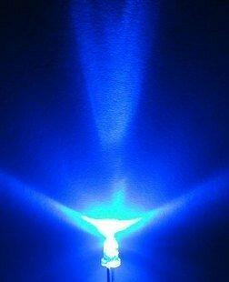 شفاف 3 مللي متر مشرق LED الأزرق الباعثة للضوء ديود 100 قطعة/الوحدة الأبيض والأزرق