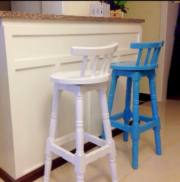 كرسي بار دوار على الطراز الحديث ، كرسي بار خشبي ، كرسي بار من الخشب الصلب