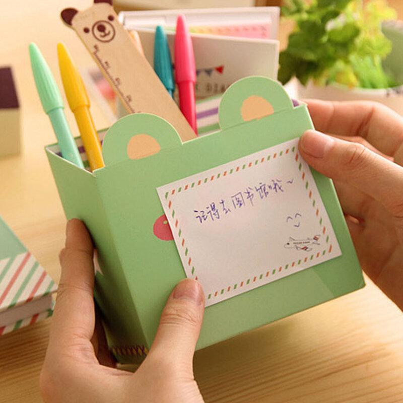 دفتر مذكرات بغلاف مقوى إبداعي ، مفكرة لاصقة Kawaii ، مستلزمات مدرسية للطلاب ، دفتر ملاحظات مع قلم