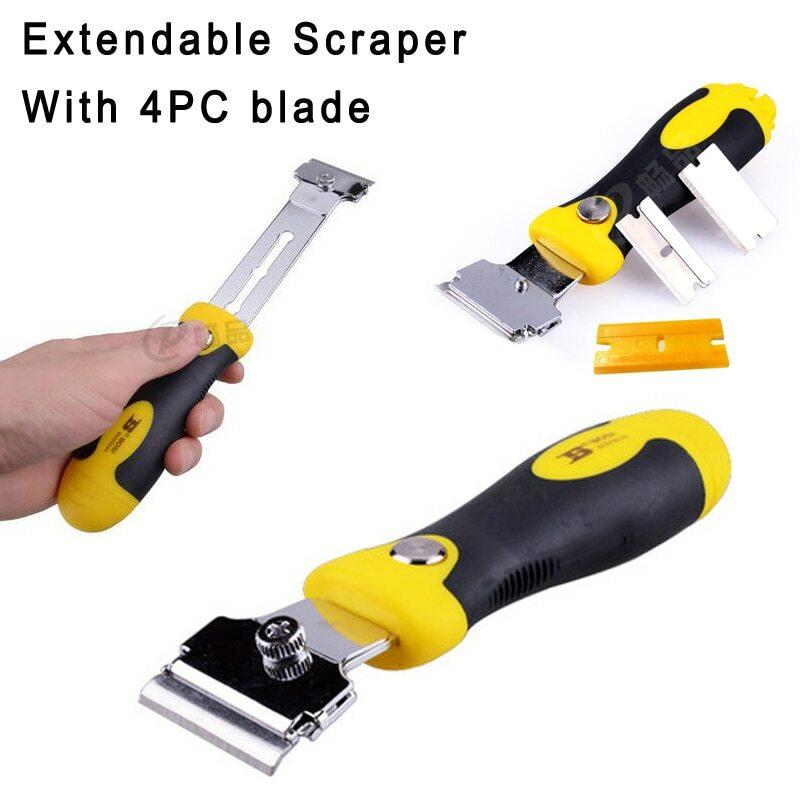 BOSI-cuchilla de afeitar de pared, multiusos, Extensible, ventana hasta el suelo, espátula, 5pc-Set