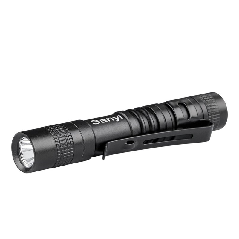 SANYI กันน้ำ Penlight Pocket MINI XPE-R3 ไฟฉาย LED ไฟฉายทำงานตรวจสอบ 1 โหมดสวิทช์กลางแจ้ง Camping LIGHT