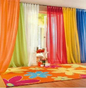 Ad alta densità di filato Terri Wong Personalizzato Finestra Schermi Finestre delle Camere e Soggiorno Multicolor tulle, pannello Pura