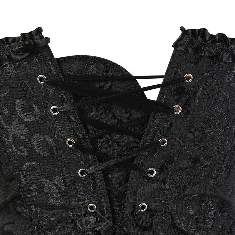 Overbust Corset เซ็กซี่ Lace Plus ขนาดเร้าอารมณ์ Zip Floral ผู้หญิง Bustier Corset ชุดชั้นในผ้า Victorian แฟชั่น DropShipping