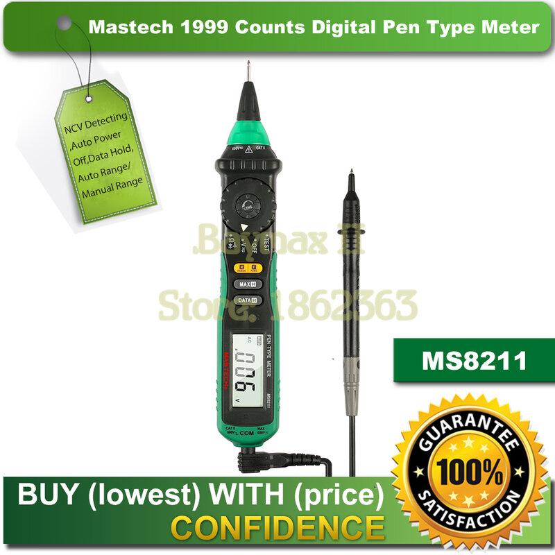 جهاز قياس متعدد رقمي تلقائي من نوع قلم Mastech MS8211 مع كاشف جهد التيار المتردد غير المتصل