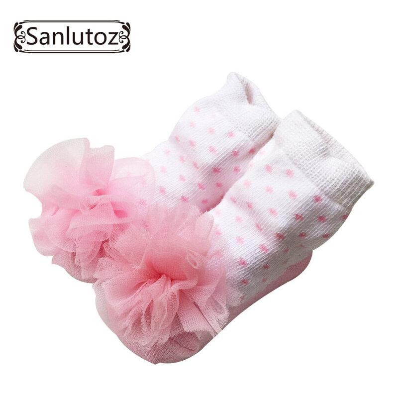Sanlutoz Baby Socken Infant Socken für Mädchen Neugeborene Socken für Prinzessin Urlaub Geburtstag Geschenke für Baby Mädchen Mode 0-12 monate