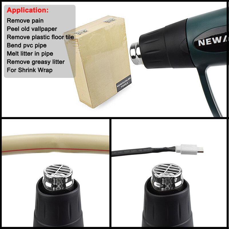 NEWACALOX 2000W 220V EU 플러그 산업용 전기 핫 에어 건 온도 조절기 LCD 히트 건 수축 포장 열 히터 노즐