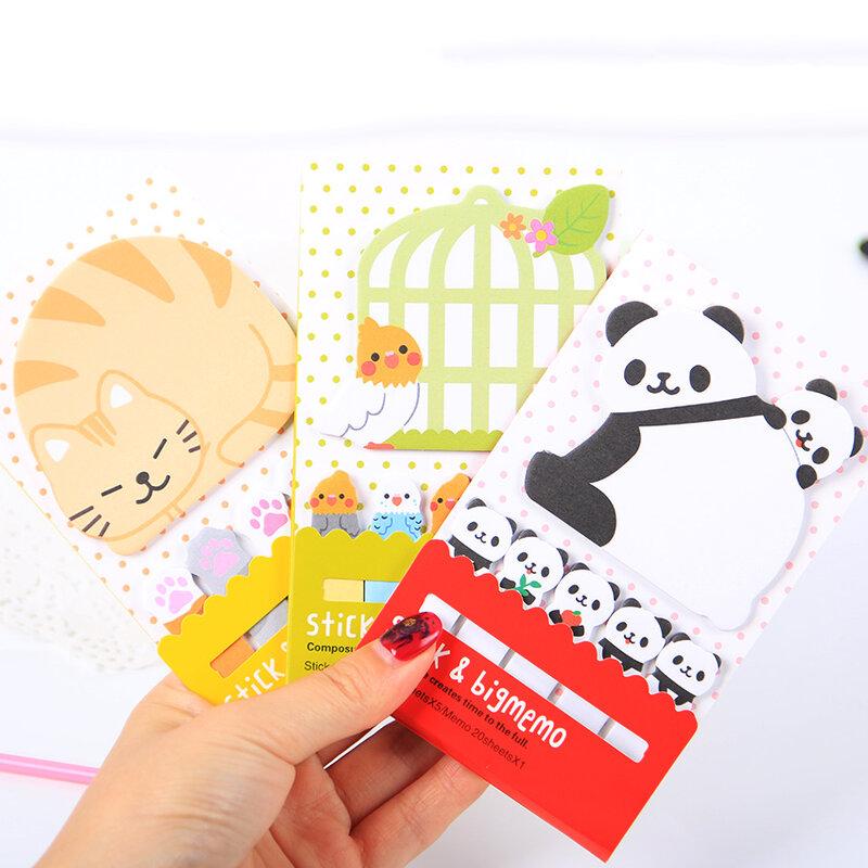 1PC Nette Katze Panda N Mal Sticky Notes Memo Pad Papier Aufkleber Notizblock Geschenk Büro Schreibwaren Escolar