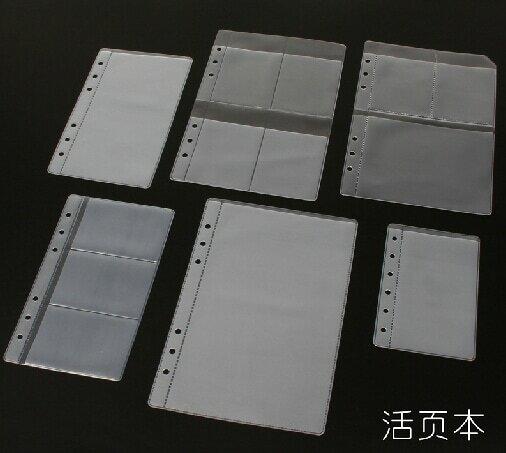 1PCS Binder BINDER มัลติฟังก์ชั่ชุด A5 A6 A7 B7 นี้ Essential อุปกรณ์เสริม 6 กระดาษหลวมกระเป๋า
