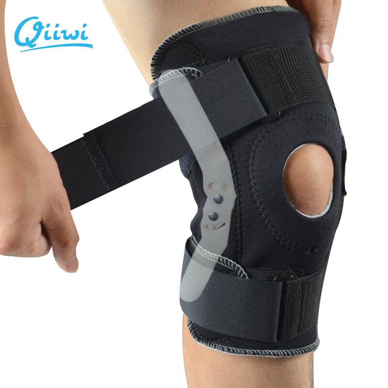 Professionelle Sport Sicherheit Knie Unterstützung Klammer Stabilisator mit Inneren Flexible Scharnier Knie Pad Schutz Atmungs Protector Strap