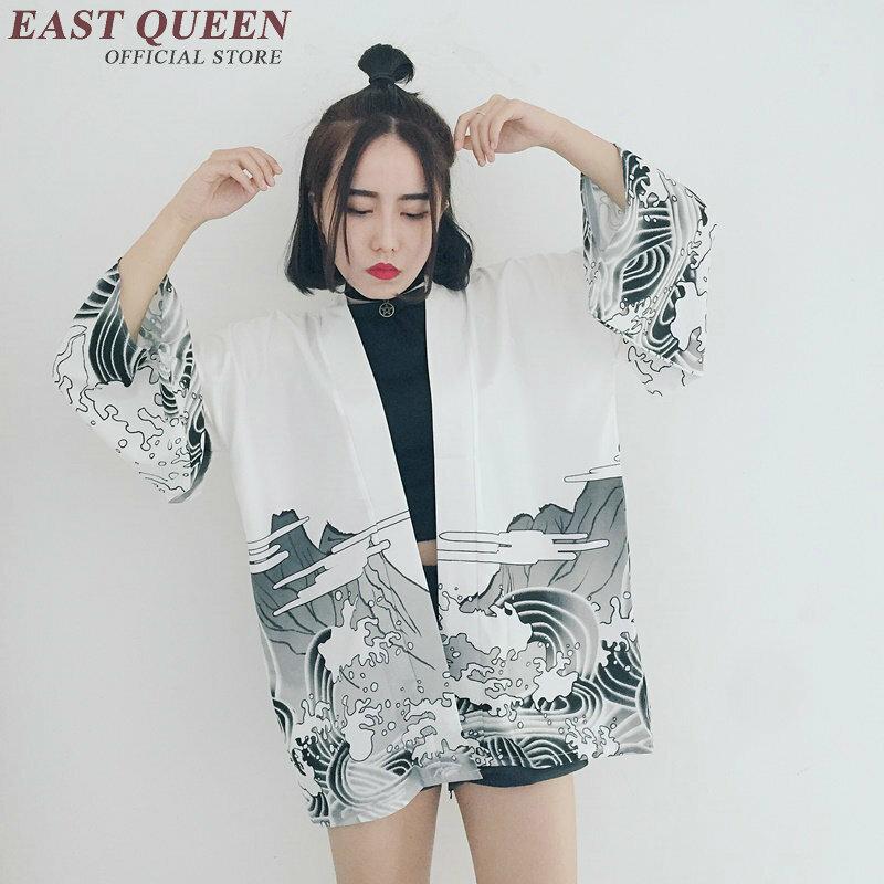 ญี่ปุ่น kimono เสื้อชายหาดกิโมโน Cardigan ผู้หญิงฤดูร้อนญี่ปุ่นแบบดั้งเดิม kimono yukata ญี่ปุ่น kimonos AA1054
