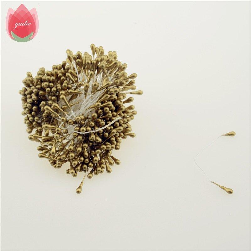 Mini perle sucre d'étain 300 pièces, fleur artificielle faite à la main pour décoration de mariage, bricolage Scrapbooking couronne décorative, fausses fleurs