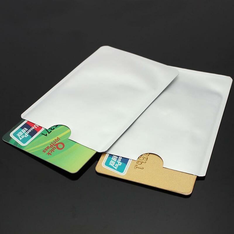새로운 안티 Rfid 차단 리더 잠금 은행 카드 홀더 ID 은행 카드 케이스 Rfid 보호 금속 신용 카드 홀더 알루미늄, 2 피스