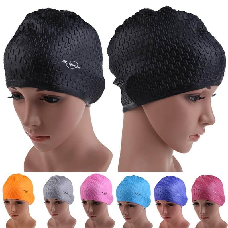 Silikon Wasserdicht Schwimmen Caps Schützen Ohren Lange Haar Sport Schwimmen Pool Hut Schwimmen Kappe Freie größe für Männer & Frauen erwachsene