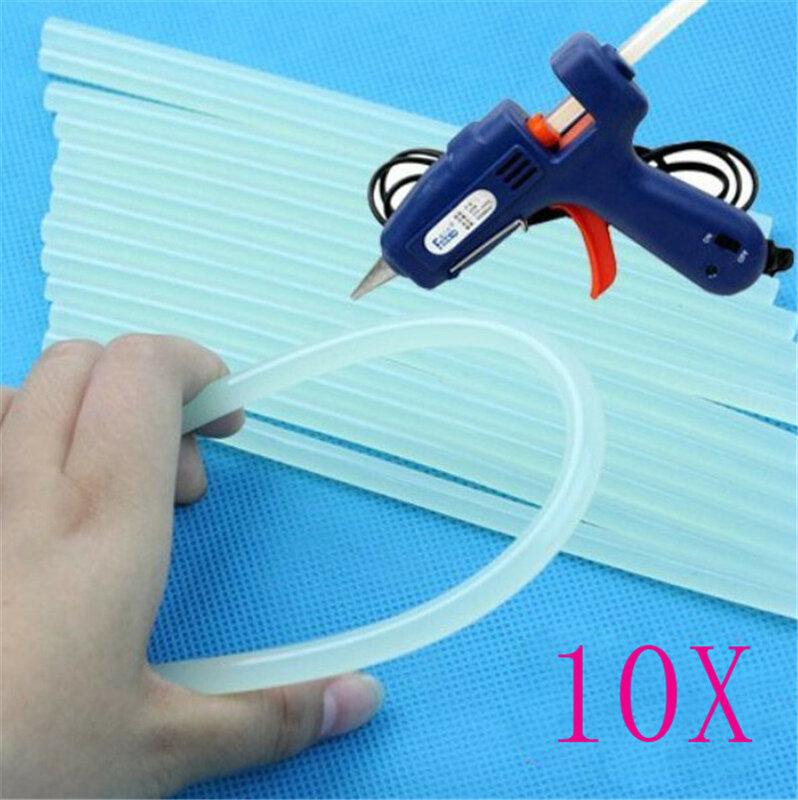 10Pcs 7*100mm Hot Melt Kleber Stick für Wärme Pistole Leim Hohe Viskosität Reparatur Tool Kit DIY hand Werkzeug