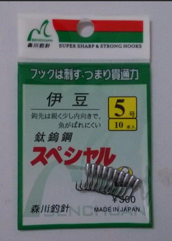 ญี่ปุ่นคว่ำHookไทเทเนียมทังสเตนBarbed FishhookดีบุกJig Head Hooks