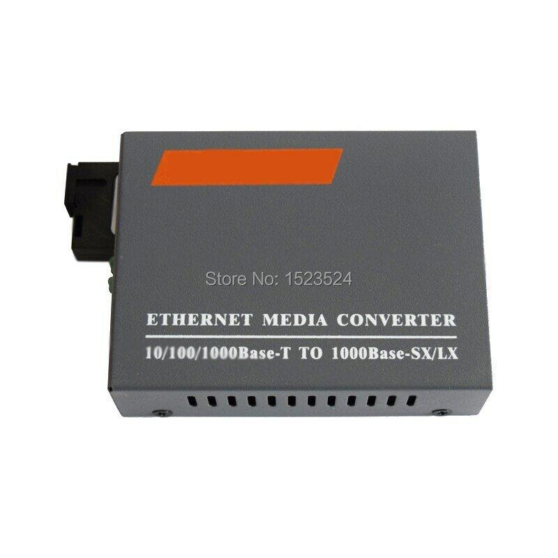 1 paio HTB-GS-03 A/B Gigabit fibra ottica Media Converter 1000Mbps modalità singola fibra SC Port 20KM alimentazione elettrica esterna