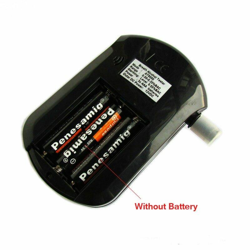 Testeur d'alcool portable AT6000, analyseur numérique de souffle d'haleine, test d'alcoolémie, teneur en BAC