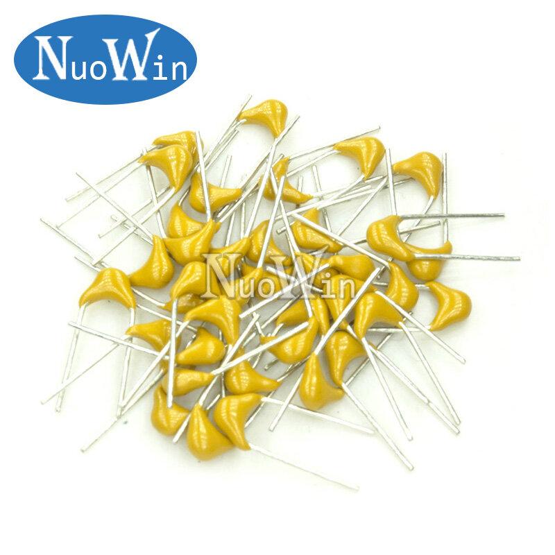 Condensador cerámico multicapa, 100 unidades, 50V, P = 5,08mm, 100NF, 100N, 104