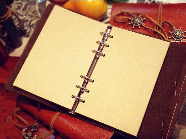 Klassische Spirale NoteBook Neueste Tagebuch Buch Vintage Piraten Anker pu-leder Notizbuch Austauschbare Weihnachtsgeschenk Reisenden Journal