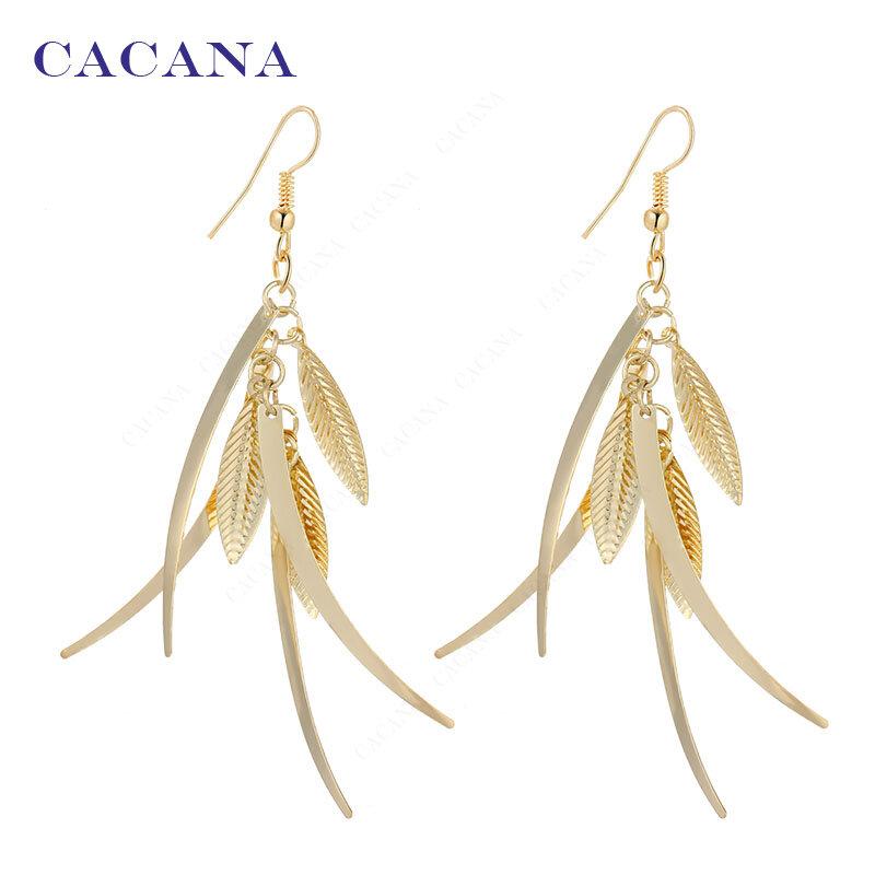 CACANA-أقراط طويلة للنساء ، مجوهرات ذات نوعية جيدة ، عرض خاص