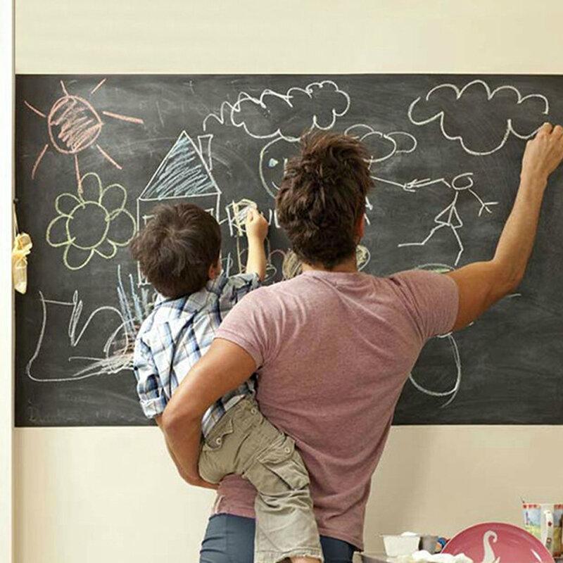Smontabile Del Vinile Disegnare Lavagna Autoadesivi Della Parete 45*200 cm Multifunzione Apprendimento Cancellabile Lavagna Scuola Forniture Per Ufficio