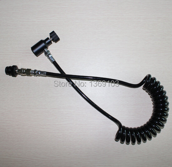 Airsoft Coil Hose Remote linea Spessa 2.5 M con quick disconnect paintball New
