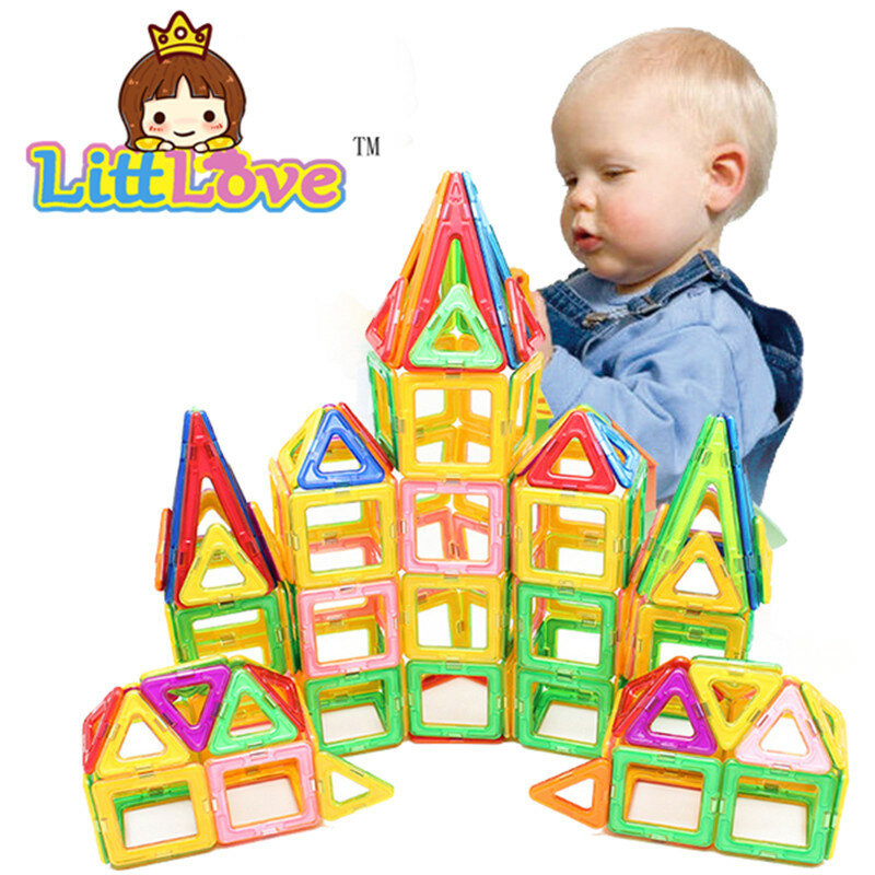 مكعبات بناء مغناطيسية ، 32 قطعة ، حجم قياسي ، ألعاب بناء ، مصمم ، طوب إضاءة ، ألعاب مغناطيسية للأطفال