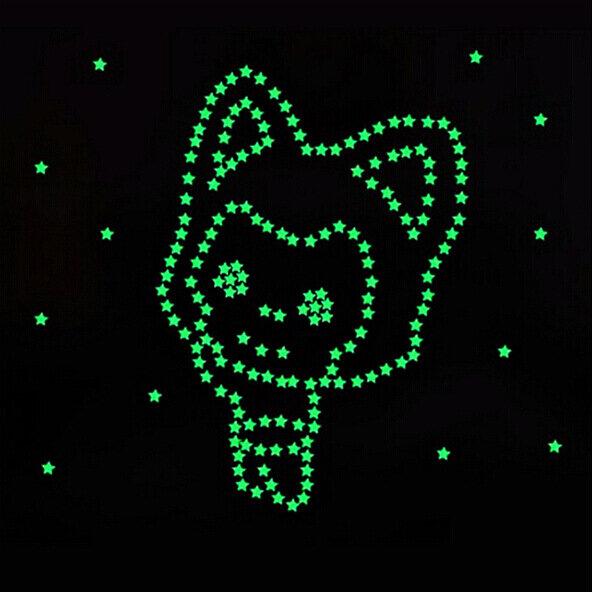 100 stücke 3D Sterne Glow In Dark Luminous Leuchtstoff Kunststoff Wand Aufkleber Home Decor Aufkleber Tapete Dekorative Spezielle Festivel