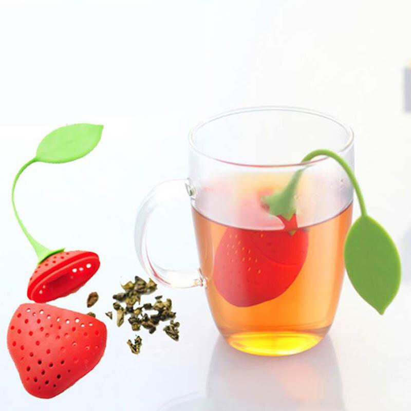 1Pcsน่ารักชา 7 สีSweet LeafซิลิโคนชาInfuser ReusableกรองDropถาดNoveltyชาเครื่องเทศสมุนไพรกรองชา