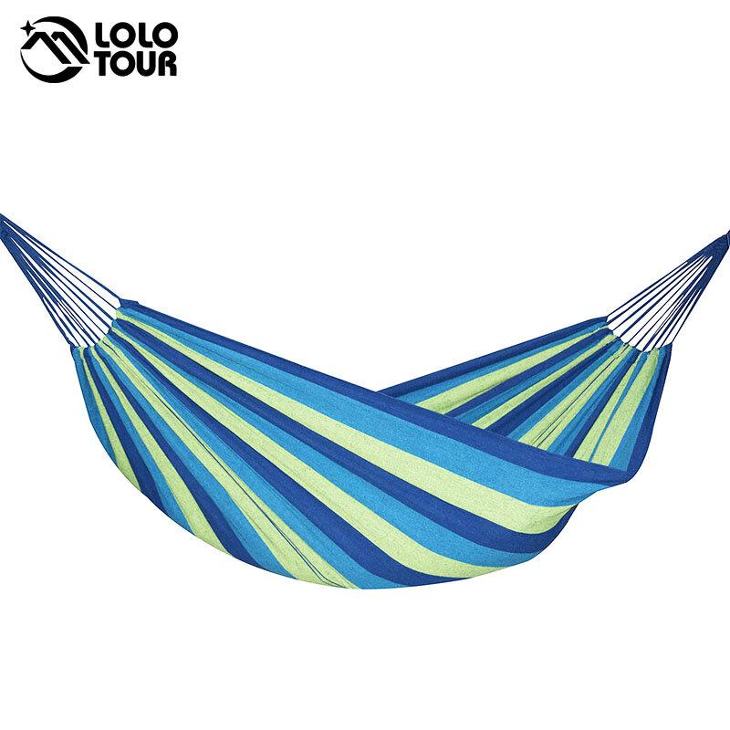 Hamaca de 240x150cm para 2 personas, cama colgante de ocio al aire libre, Columpio de lona doble para dormir, para acampar y cazar, 3 colores