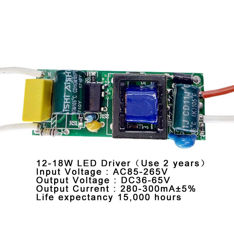 1-3 W, 4-7 W, 8-12 W, 15-18 W, 20-24 W, 25-36W led-treiber netzteil integrierten konstante Beleuchtung 85-265V Ausgang 300mA Transformator