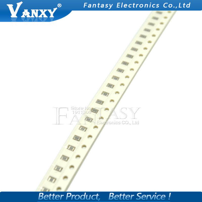 100 Uds 100nF X7R Error 10% 50V 0805 0,1 UF 104 1pF ~ 47uF SMD Chip de película gruesa condensador cerámica multicapa