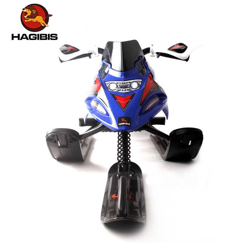 HAGIBIS مزلقة للثلج بفرامل آمنة, متحركة للثلج مع نظام سحب آلي قابل للسحب ، دراجة نارية صغيرة بسحاب