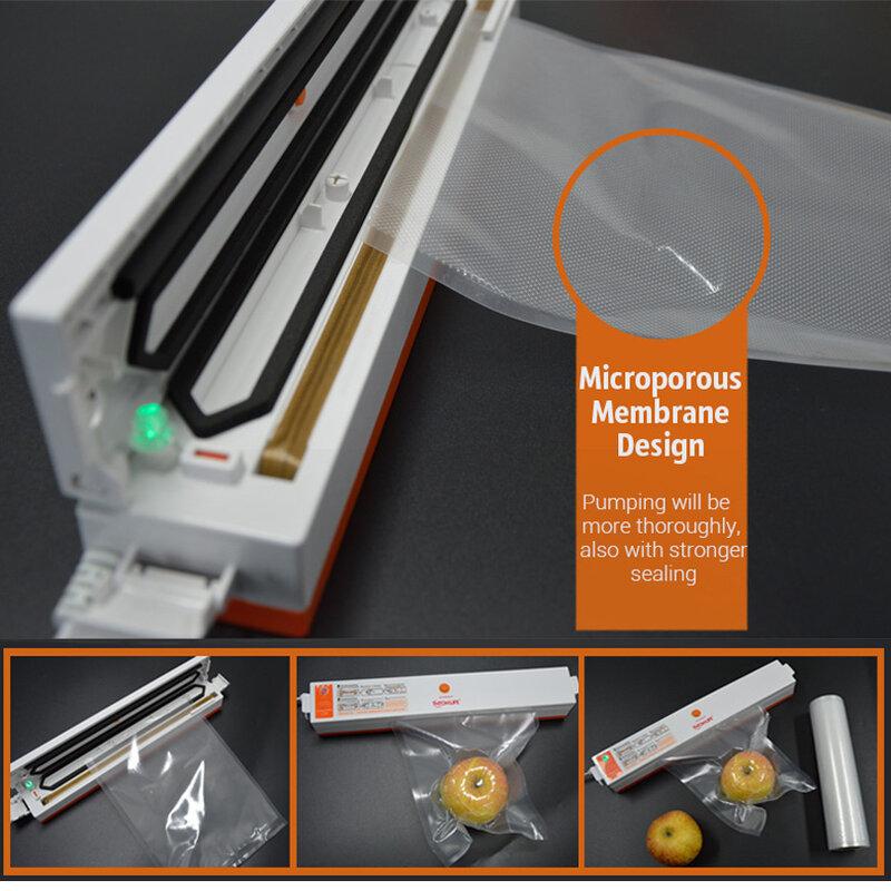 TINTON LIFE 28CM x 500CM ROLLS 진공 히트 실러 식품 보호기 식품 보관 가방 Saran Wrap