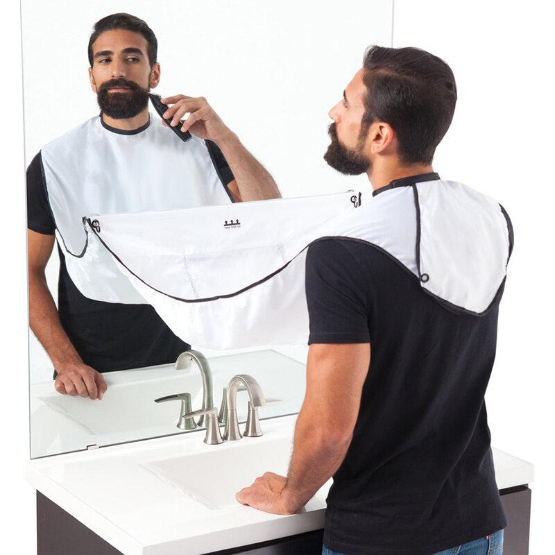 Neue Die Bart Bib Schürze Gesichts Haar Garnituren Männer Bart Cape Waschbecken Hause Salon Werkzeug Rasieren Tuch