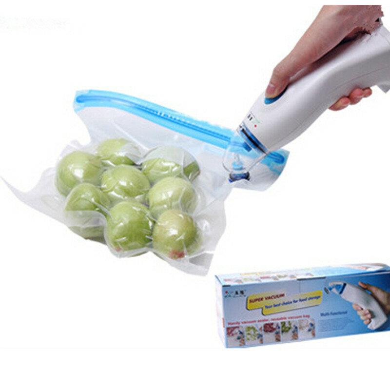 Vakuum Versiegelung Maschine Handheld elektrische vakuum pumpe hause küche vakuum maschine geschenk 5 stücke vakuum tasche