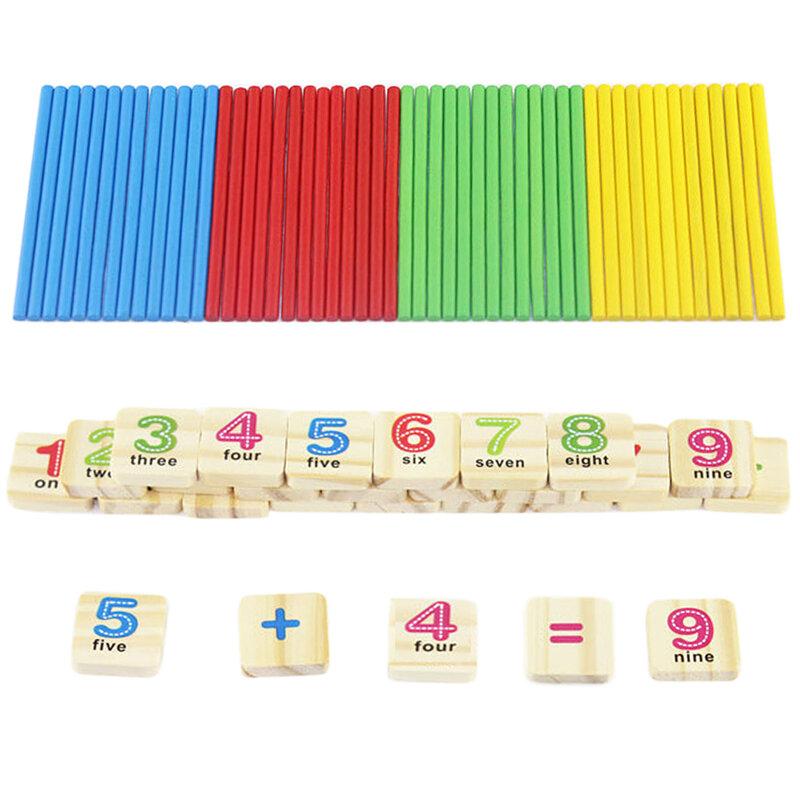 Per bambini In Legno Numeri Bastone Matematica Apprendimento Precoce di Conteggio Matematica Giocattoli Educativi per I Bambini il Regalo Dei Capretti