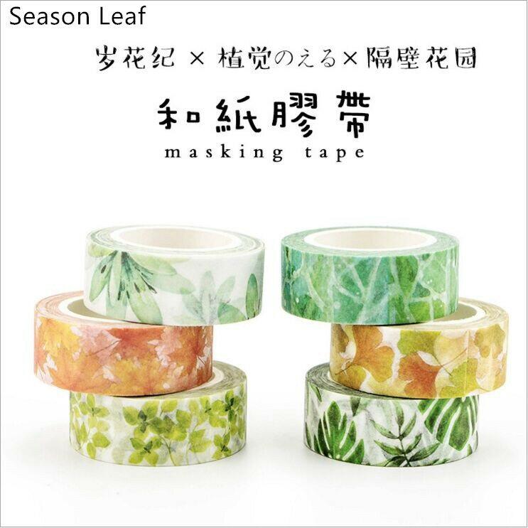 Ruban adhésif pour Scrapbooking, étiquette autocollante pour bricolage planificateur, 22 Styles, plantes à fleurs colorées