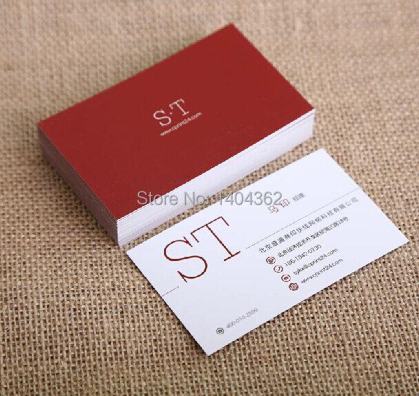 ฟรีออกแบบนามบัตรนามบัตรพิมพ์กระดาษโทรการ์ด,กระดาษVisiting Card 500 ชิ้น/ล็อต