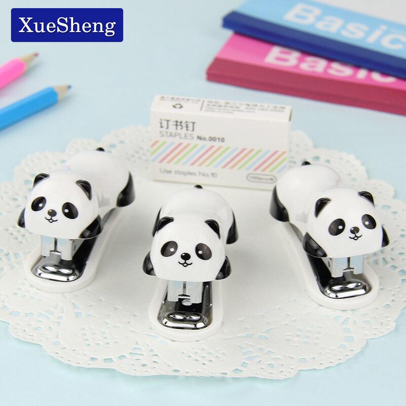 1 PC Del Fumetto Mini Panda Cucitrice Set di Scuola Forniture Per Ufficio di Cancelleria Carta Vincolante Binder Libro