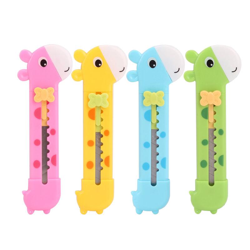 1 pièces belle petite girafe stylo papier coupe couteau lettre ouvreur boîte Cutter