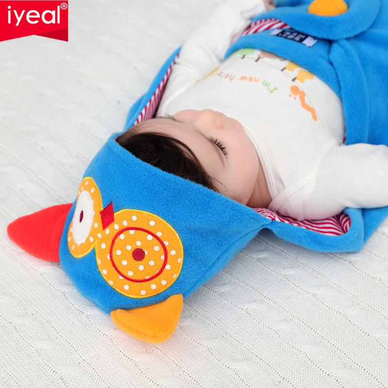 IYEAL Neugeborenen Swaddle Wrap Blanket Schlafsack Fleece Tier baby jungen mädchen Schlaf Sack Bettwäsche Passt Auto Sitz Kinderwagen 0-18M
