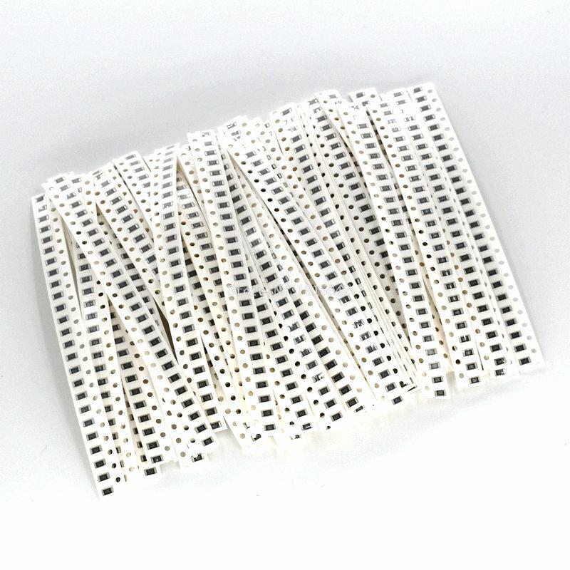 1250 PZ/LOTTO 50 Valore di 1206 SMD Resistor Kit (0R ~ 10MR) 5% 100% NUOVO E ORIGINALE di Chip Resistenza Assortiti Set